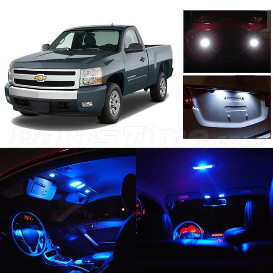 13x Blue Led Interior Package Lights For Chevrolet Silverado 99 06 Rear License Ebay