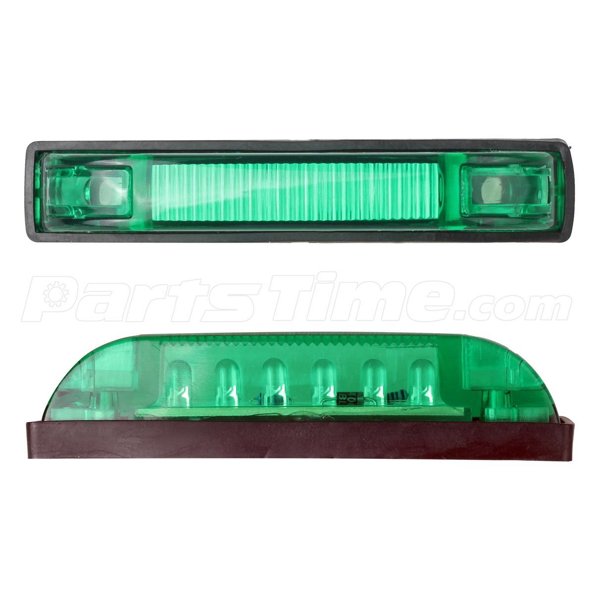 4 green waterproof led light bar 6 leds utility strip. Black Bedroom Furniture Sets. Home Design Ideas