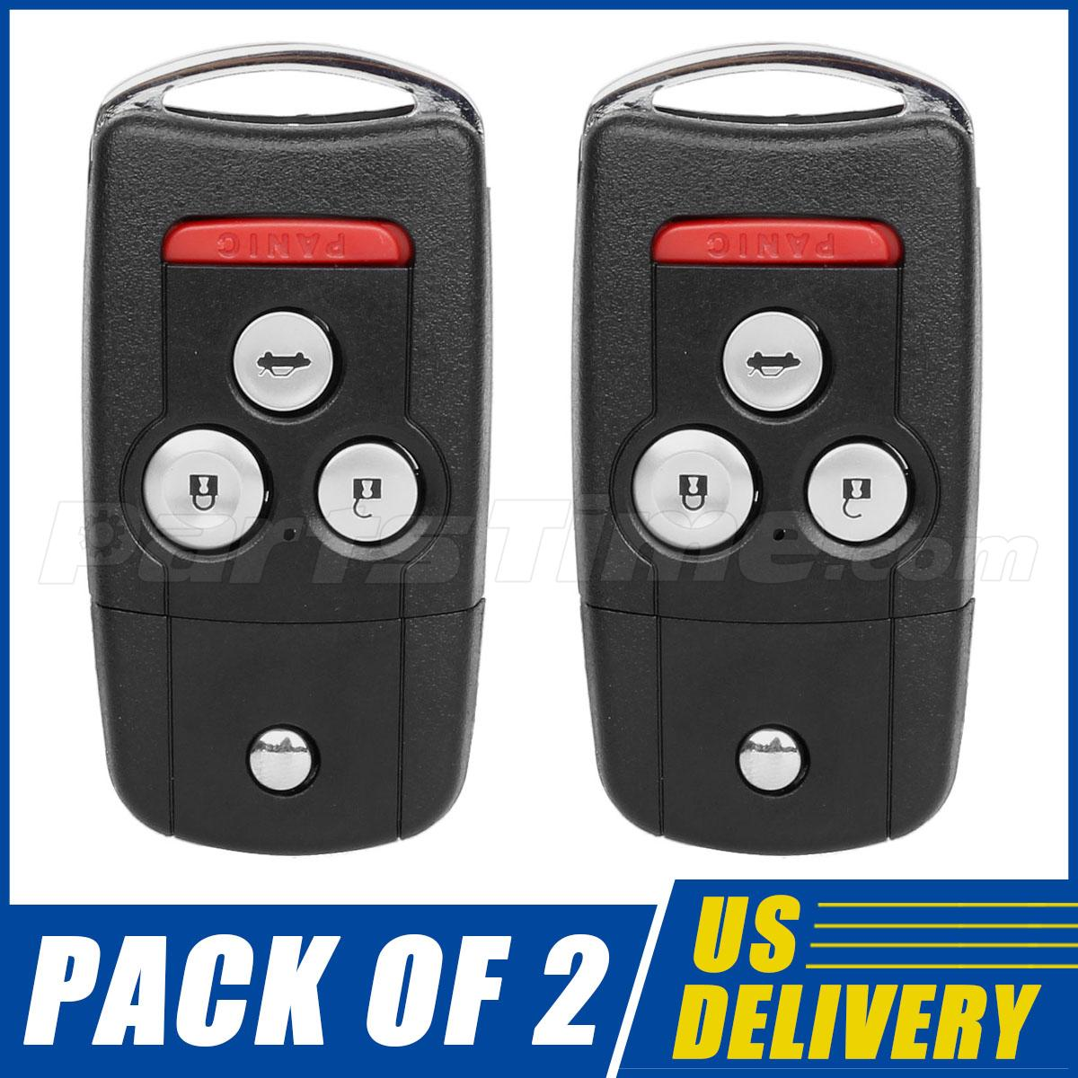 2 New Replacement Remote Flip Key Keyless Entry FOB For